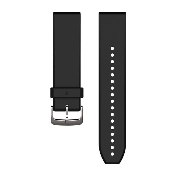 Силиконовый ремешок Garmin QuickFit 22 мм черный с серебряным