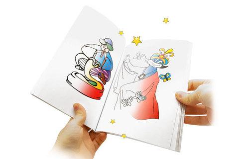 Книжка - раскраска для фокусов