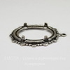 """Сеттинг - основа - подвеска """"Ажурный"""" для камеи или кабошона 25х18 мм (оксид серебра)"""
