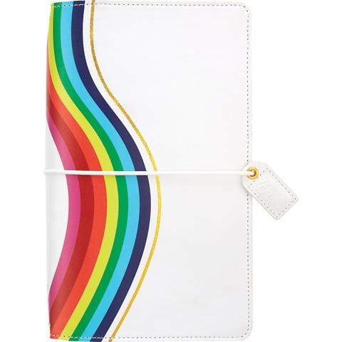 Блокнот (14х22 см) Color Crush Faux Leather Travelers' Planner  - Rainbow