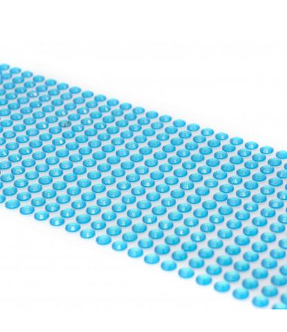 Стразы голубые 5 мм длинные