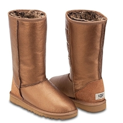 UGG Classic Tall Metallic Bronze