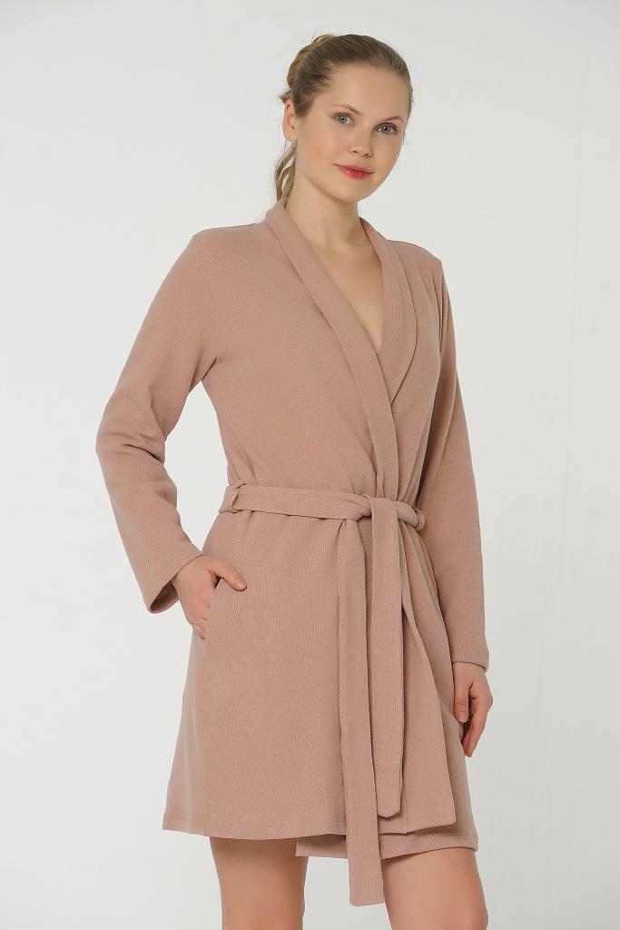 Короткий теплый женский халат Valery (Женские халаты)
