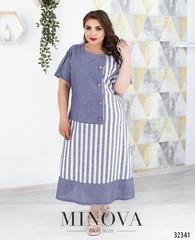 Платье летнее в полоску Minova 450-2-2