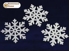 Пластиковый декор Белая снежинка № 1