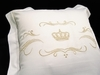 Наволочка 70х70 Christian Fischbacher Luxury Nights Crown 709 золотая вышивка