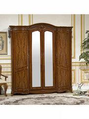 Шкаф 4-дверный с зеркалами Виолетта (OYF-8929 MK-2904-BR) Red Cherry