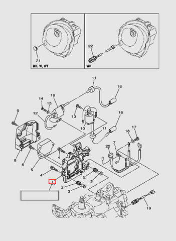 Опора коммутатора  для лодочного мотора T40 Sea-PRO (9-1)