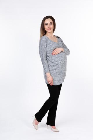 Блузка 08884 серый