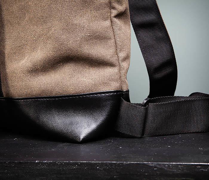 BAG460-2 Мужской городской рюкзак из текстиля коричневого цвета фото 05