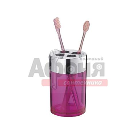 423-29/L Стакан для зуб щеток пластик (сиреневый)