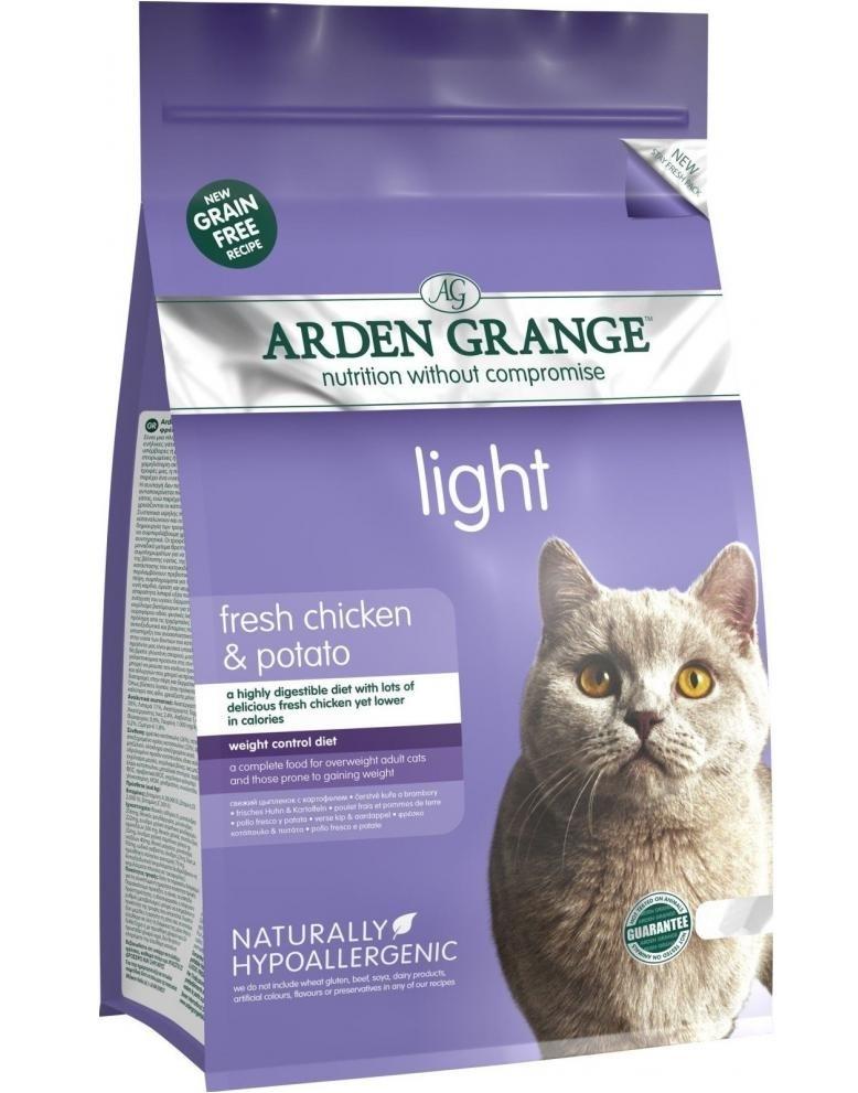 Каталог Низкокалорийный сухой корм для кошек, Arden Grange Adult Cat Light, диетический, беззерновой AG614238.jpg