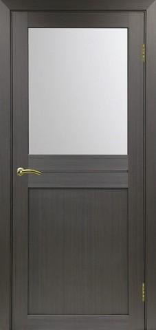 > Экошпон Optima Porte Турин 520.211, стекло матовое, цвет венге, остекленная