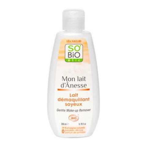 Молочко для мягкого снятия макияжа с ослиным молоком SO'Bio etic, 200 мл