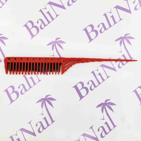 Расчёска профессиональная карбоновая антистатическая с комбинированными зубчиками YB1-150