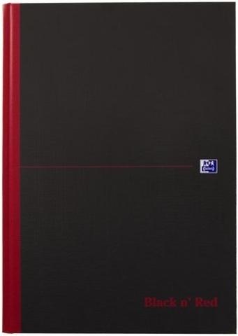 Блокнот Black n' Red A4 (21*29.7см) линейка 96л твердая обложка
