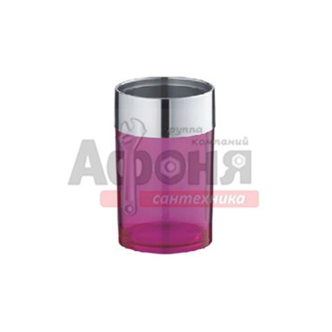 423-6/L Стакан для зуб щеток и пасты пластик (сиреневый)