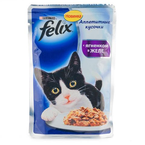 """Корм для кошек Felix """"С ягненком в желе"""" 85г"""