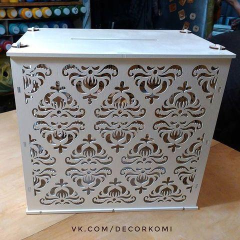 Ящик из дерева для конвертов - свадебный