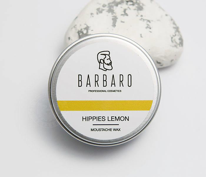 "RAZ1009 Воск для усов Barbaro ""Hippies lemon"", 12 гр фото 01"
