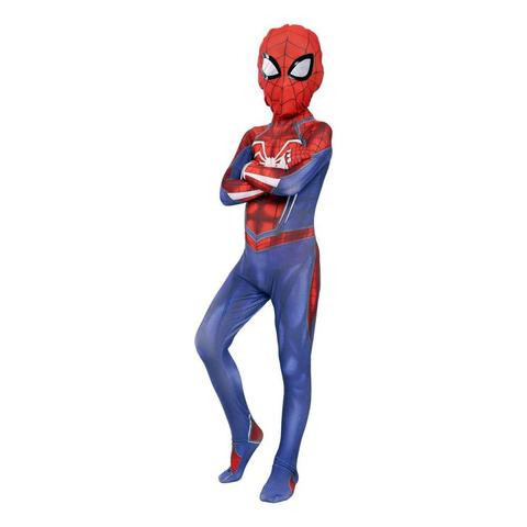Человек паук детский костюм с белым Пауком