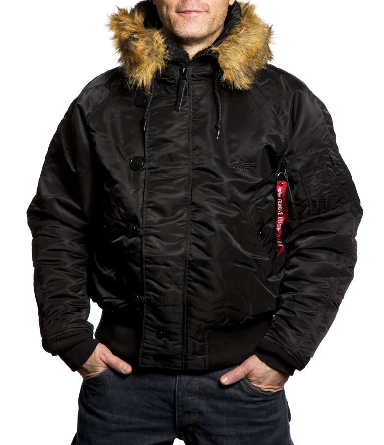 Куртка Мужская Alpha N-2B Flight Jacket (черная - black)