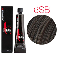 Goldwell Topchic 6SB (серебристо-коричневый) - Cтойкая крем краска