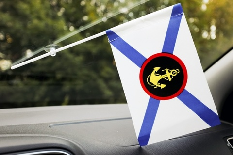 Флаг Морской пехоты в машину 15x23 см с присоской