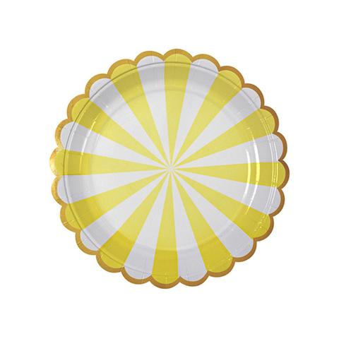 Тарелки в желтую полоску, мал.