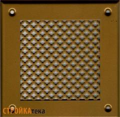 Решетка 150*150 золото, м.цветок