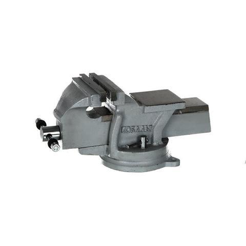 Тиски слесарные поворотные КОБАЛЬТ стальные, ширина губок 125 мм, захват 125 мм, 11 кг,  н (248-979)