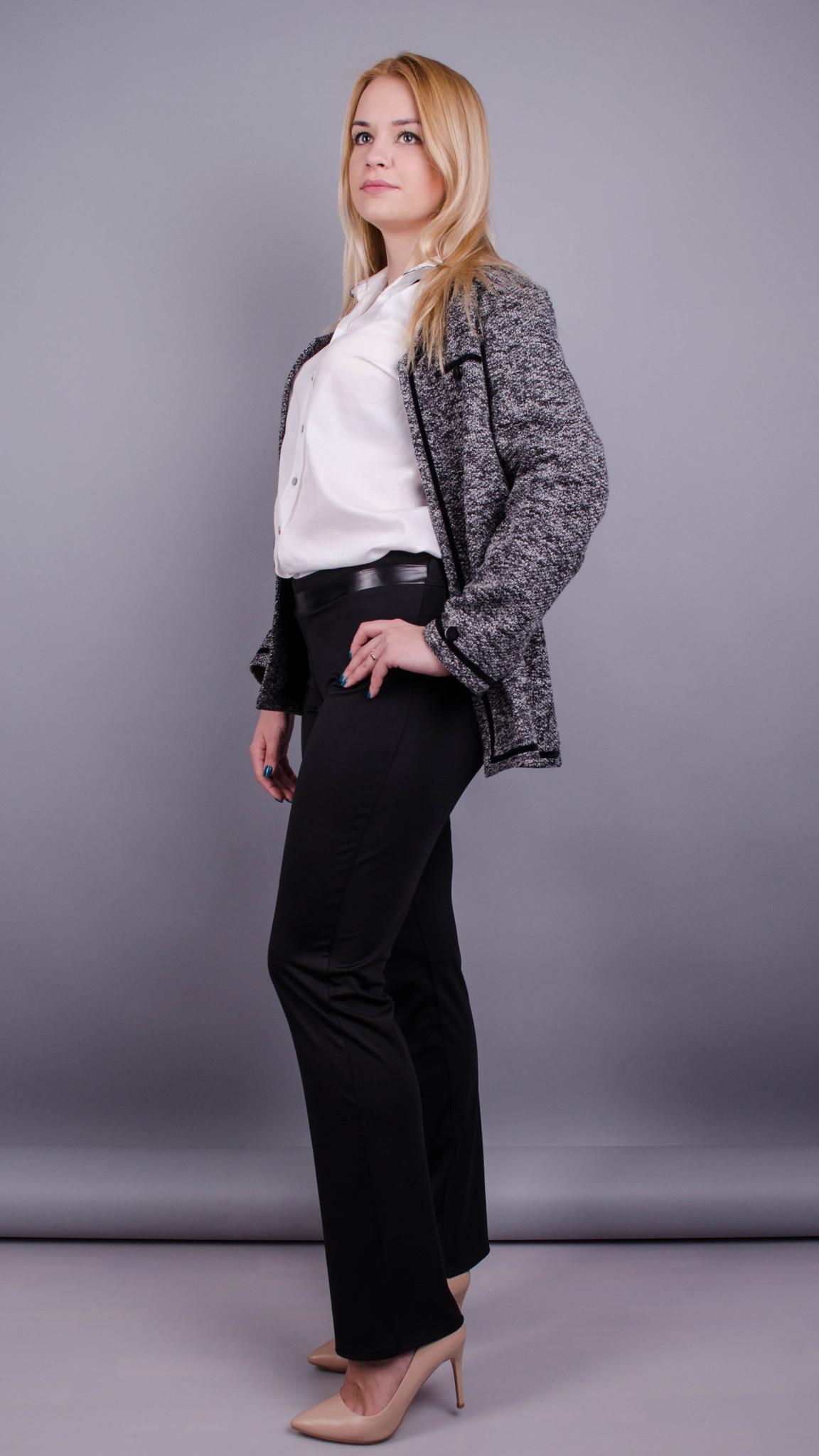 28e01ce9c21 Никки весна. Женские брюки больших размеров. Черный.