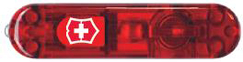 Передняя накладка для ножей VICTORINOX SwissLite 58 мм, пластиковая, полупрозрачная красная