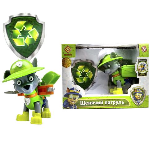 Щенячий патруль в индивидуальной упаковке (1 игрушка в комплекте) Рокки (Зеленый) 1кор*1бл*1шт