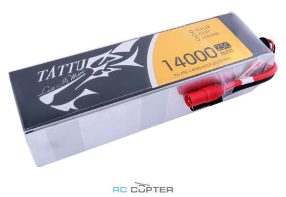 АКБ Gens Ace Tattu 14000mAh 22.2V 25C 6S1P Lipo Battery Pack