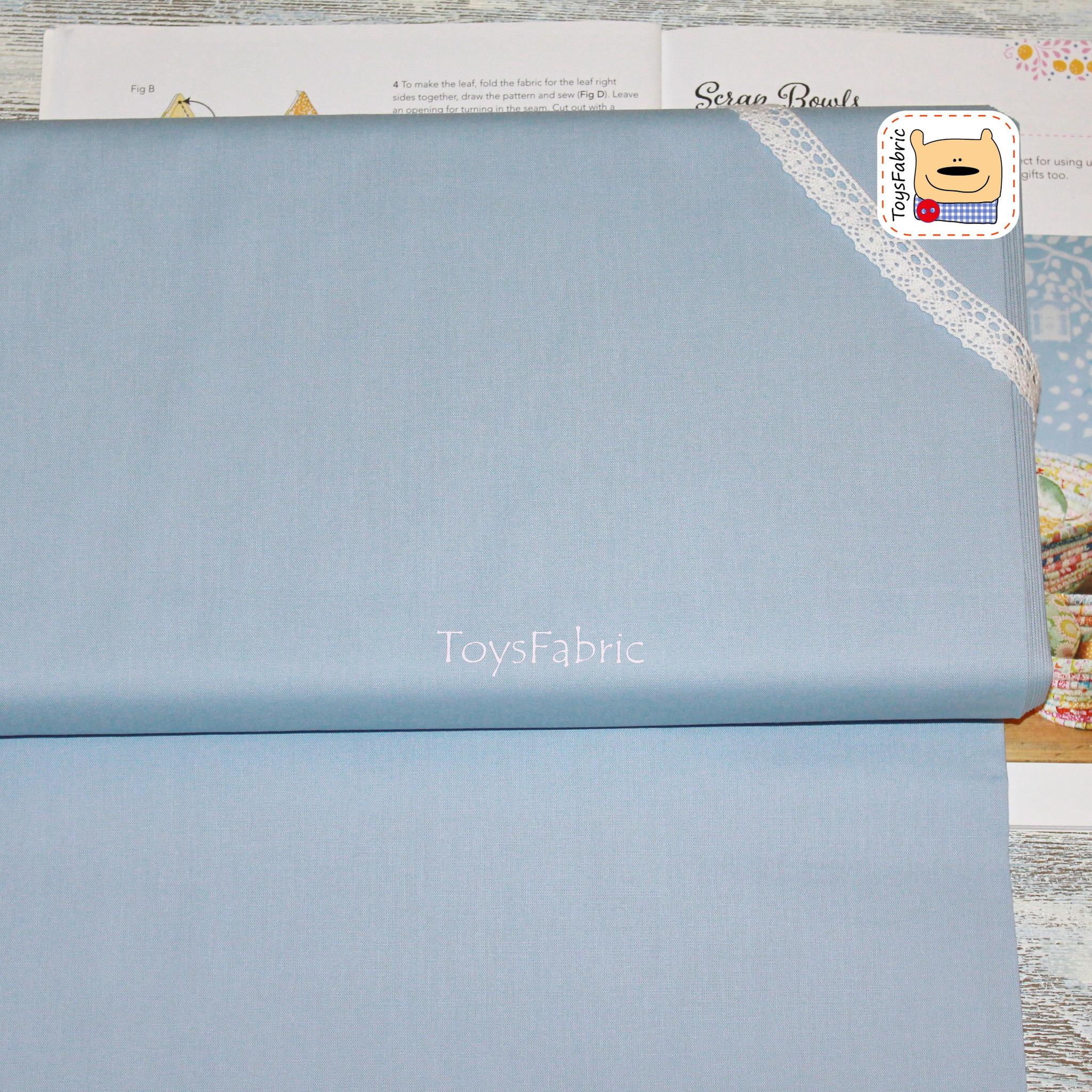 Ткань для пэчворка 20823 корейский хлопок (однотонный голубой) 45х55см