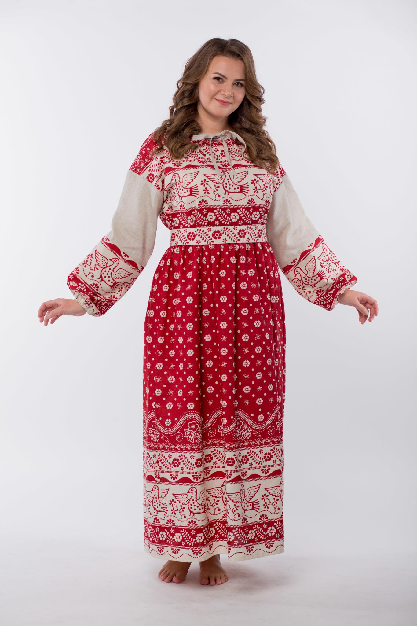 Платье льняное Певчее размер 50-52