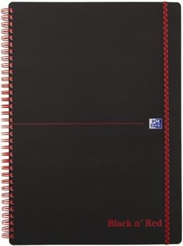 Блокнот Black n' Red A4 (22.2*29.5см) линейка 70л спираль пластиковая обложка