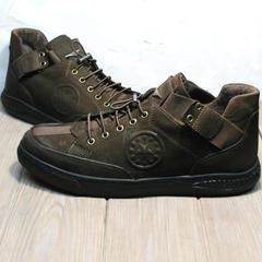 Туфли кроссовки мужские осенние Luciano Bellini 71748 Brown