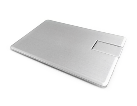usb флешка карточка металлическая
