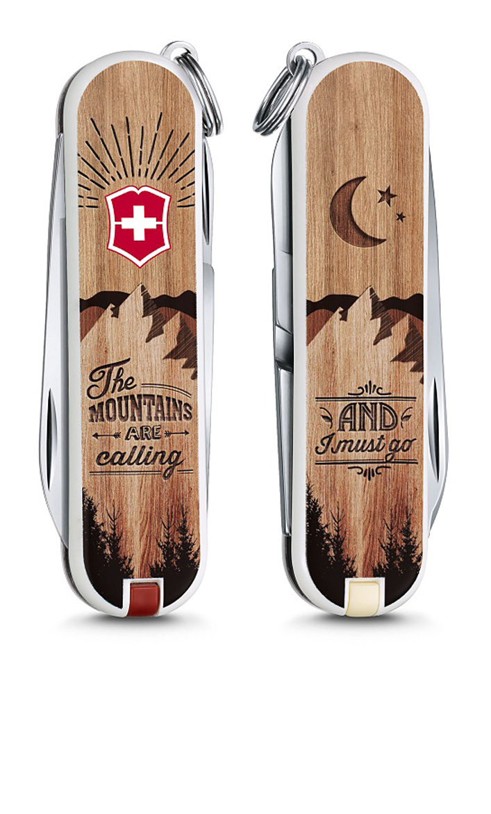 "Нож-брелок Victorinox Classic LE 2016, 58 мм, 7 функ, ""The Mountains are Calling"" (0.6223.L1604)"