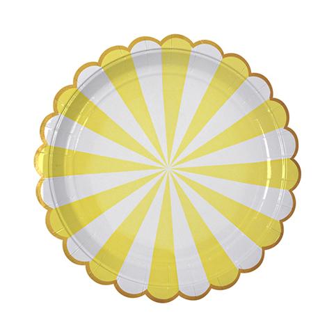 Тарелки в желтую полоску, бол.