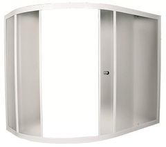 Шторка для ванны 1Marka Catania 160х100х140 MW (Selak) каркас белый, стекло Мислайт, 3 части