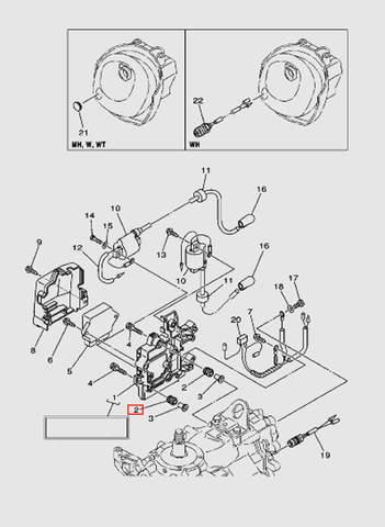 Демпфер катушки зажигания для лодочного мотора T40 Sea-PRO (9-2)