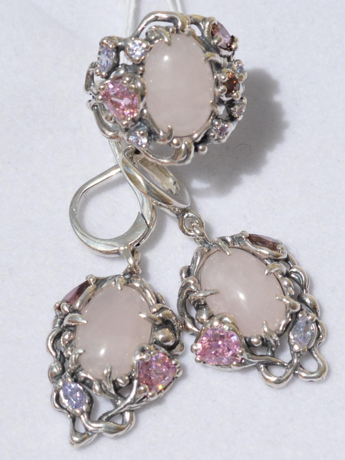 4061(кольцо + серьги из серебра)