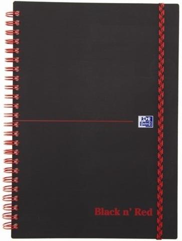 Блокнот Black n' Red A5 (14.8*21см) клетка 70л спираль пластиковая обложка