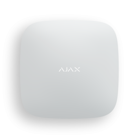 Смарт-центр Ajax Hub Plus WHITE (4 канала связи)