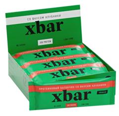 Протеиновый батончик «Xbar» со вкусом  клубники Vasco nutrition 60 гр