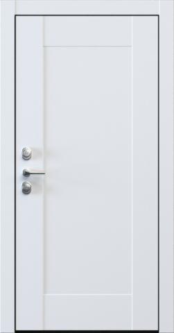 Входная дверь «Quadro 1» в цвете, Эмаль белая