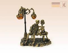 фигурка Влюбленные с янтарным фонариком